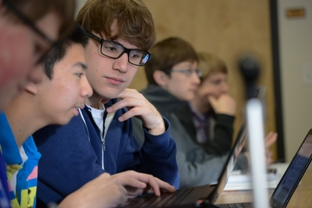 Davidson Academy students enjoying class