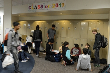 Profoundly gifted students walking in a Davidson Academy classroom
