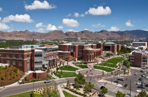 An aerial photo of the University of Nevada, Reno campus, home of the Davidson Academy
