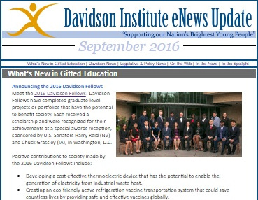 Davidson Institute eNewsletter