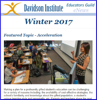 Davidson Educators Guild eNewsletter