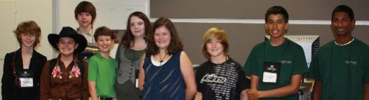 A group of Davidson Young Scholars Ambassadors