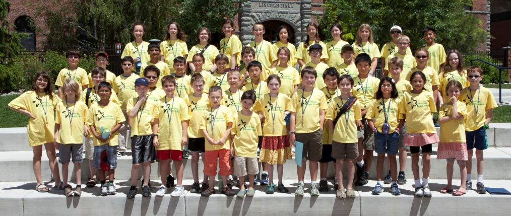 A group photo of Davidson Summer STARS