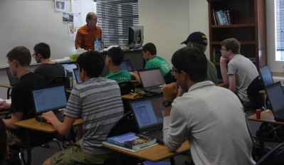 gifted students at their computers in the classroom